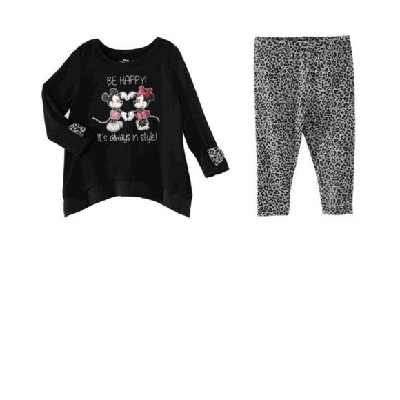 Be Happy Mickey & Minnie Mouse Shirt & Leggings